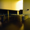 "<font size=""2"" face=""Verdana"" font color=""#5CB3FF"">Lobby area of the Dowling Studio shot during one of the daily tours.  The tables were left over from the night before when there was some type of event going on in this area.</font>"