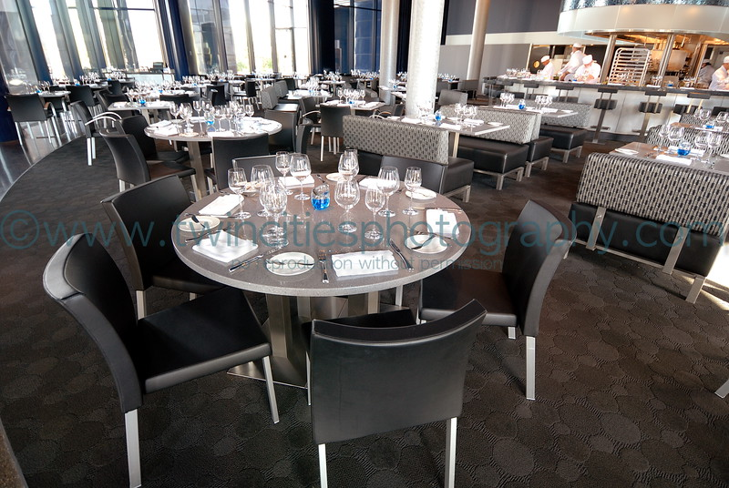 "<font size=""2"" face=""Verdana"" font color=""#5CB3FF"">The dining room in  Cue Restaurant at the Guthrie .</font>"