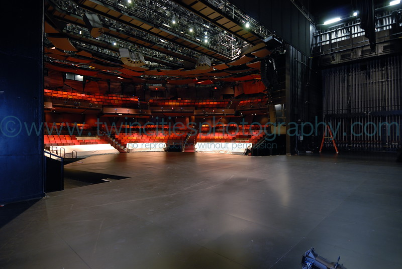 "<font size=""2"" face=""Verdana"" font color=""#5CB3FF"">View of the main theater from backstage - photo taken during one of the daily tours offered to visitors to the Guthrie..</font>"