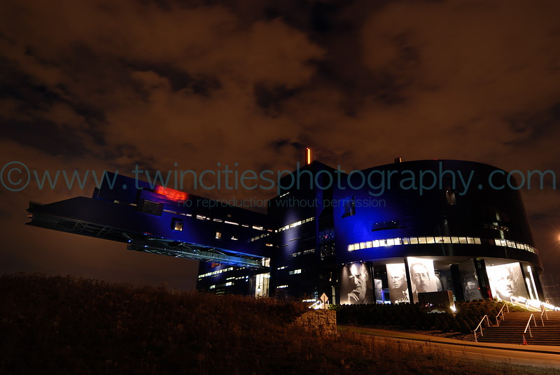 #13932 - The Guthrie at night on a early November evening against a dramatic sky.