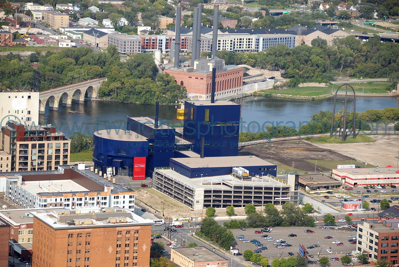 """<font size=""""2"""" face=""""Verdana"""" font color=""""#5CB3FF"""">Exterior view of the Guthrie Theater.  September 2006.</font>"""