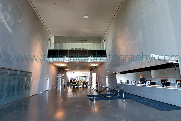 The main lobby of the Guthrie with the Box Office on the right had side of photo.  August 2007