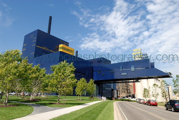 The Guthrie Theater on July 28, 2007 viewed from the West River Road along the Mississippi River.