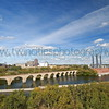 """<font size=""""2"""" face=""""Verdana"""" font color=""""#5CB3FF"""">View of the Mississippi River and the historic Stone Arch Bridge on a beautiful fall day.  September 2006.</font>"""