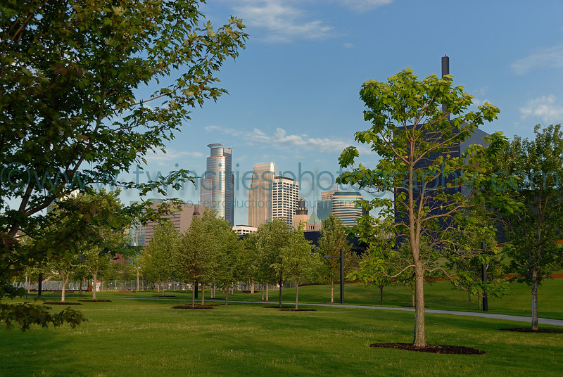 """<font size=""""2"""" face=""""Verdana"""" font color=""""#84C65D"""">View of downtown Minneapolis in the background. (July 2007)</font>"""
