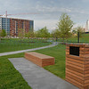 """<font size=""""2"""" face=""""Verdana"""" font color=""""#84C65D"""">Benches and Paths in Gold Medal Park.</font>"""