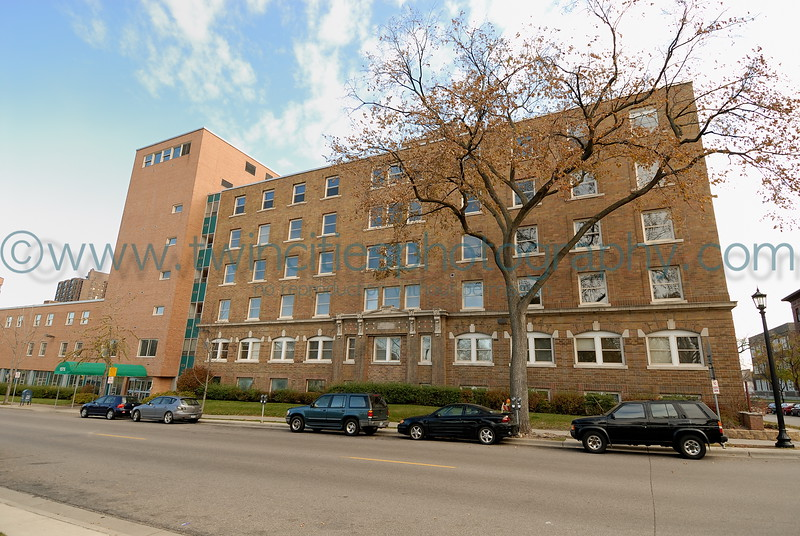 Eitel Hospital Building, located on the East side of Loring Park. This site will be developed into a new condominium project to start in 2006/2007.  Photo taken October 22, 2006