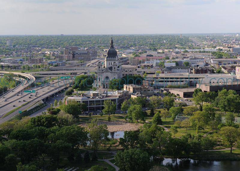 """<font size=""""3"""" face=""""Verdana"""" font color=""""turquoise"""">Loring Park and St. Mary's Basilica - taken from the 25th floor of Summit House Condominiums just south of Loring Park - Photo taken May 2010</font> <font size=""""2"""" face=""""Verdana"""" font color=""""white"""">Order a photo print of any photo by clicking the 'Buy' link above.</font><br> <font size = """"2"""" font color = """"gray""""> TIP: Click the photo above to display a larger size</font>"""