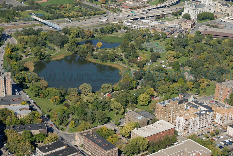 """<font size=""""3"""" face=""""Verdana"""" font color=""""white"""">Loring Park</font> <font size=""""3"""" face=""""Verdana"""" font color=""""#5CB3FF"""">Aerial view of Loring Park in Minneapolis  Photo date October 2007.</font> <br> <font size = """"1"""" font color = """"gray"""">Click on photo to see larger size.</font>"""