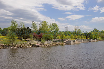 Mississippi Riverfront Boom Island park along the Mississippi River near downtown Minneapolis.  Photo date May 17, 2008.  Click on photo to see larger size.