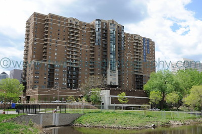 Mississippi Riverfront Riverwest Condominiums along the riverfront near downtown Minneapolis  Click on photo to see larger size.