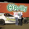 Lariviere celebrates in O'Reilly Victory Lane