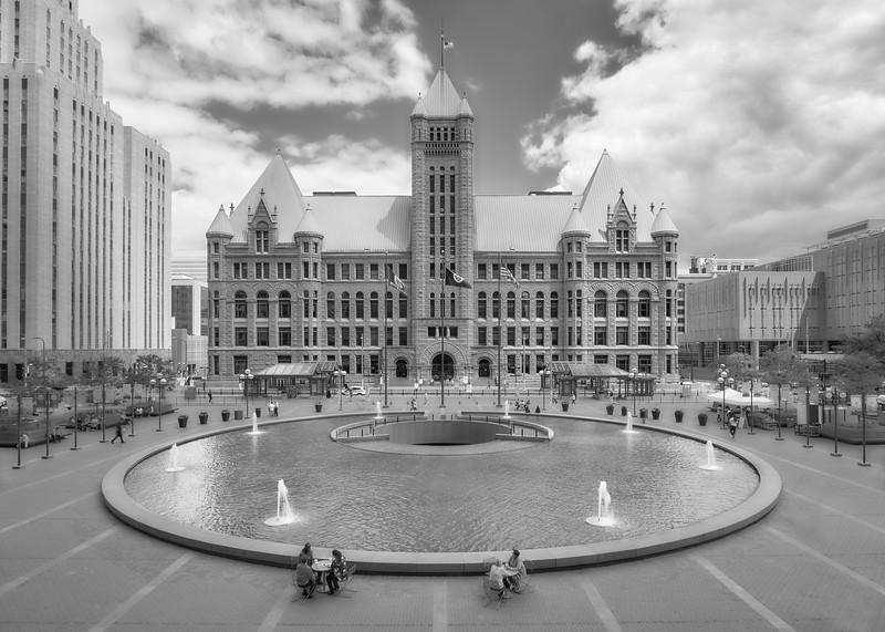 Minneapolis City Hall from Hennepin County Government Center