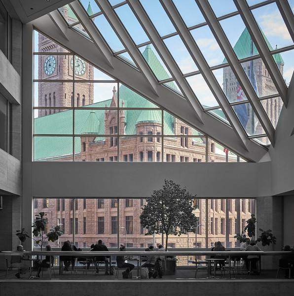 Minneapolis City Hall,  from U.S. Bank Plaza