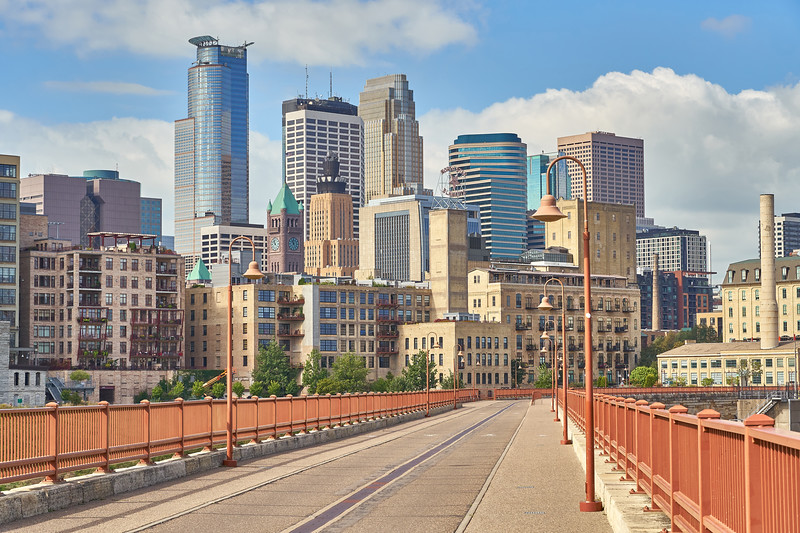 Minneapolis from Stone Arch Bridge