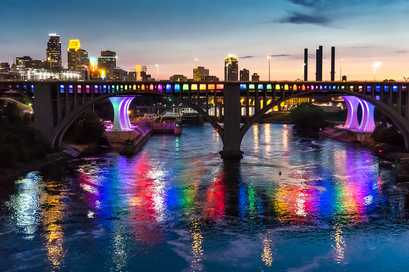 Rainbow Bridge in Minneapolis