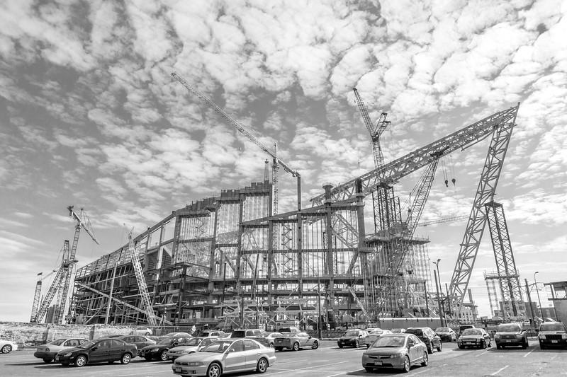 US Bank  stadium under construction in Minneapolis
