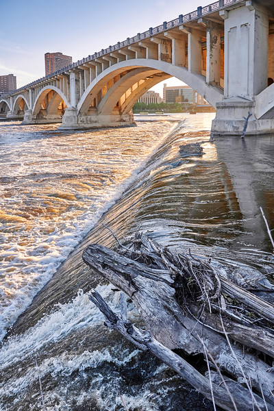 The Mississippi River and 3rd Avenue Bridge in Minneapolis