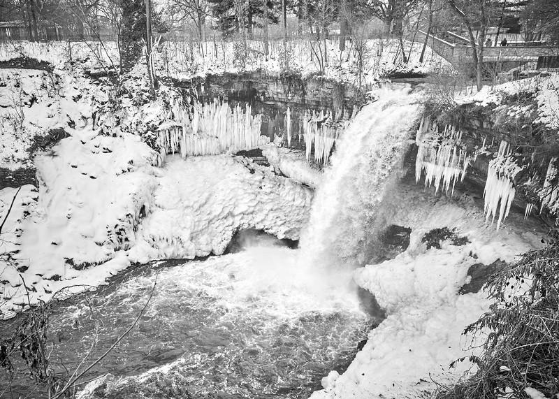 Minnehaha Falls in December