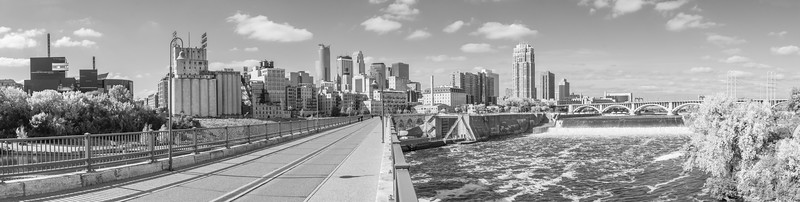 Minneapolis Stone Arch Bridge Panorama