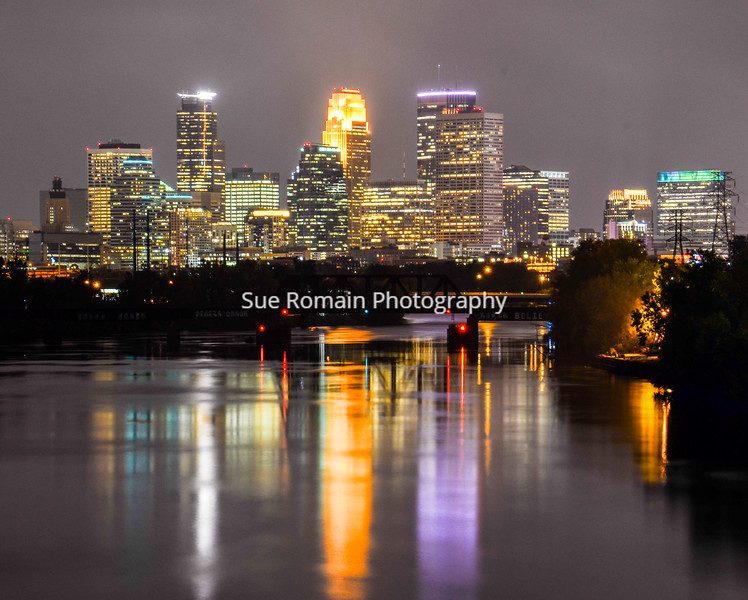 Minneapolis Nighttime Skyline