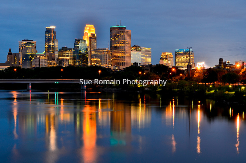 Minneapolis Skyline from Broadway Avenue Bridge