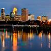 Minneapolis Skyline from Broadway Avenue Bridge