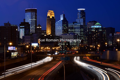 Minneapolis Skyline over 35W