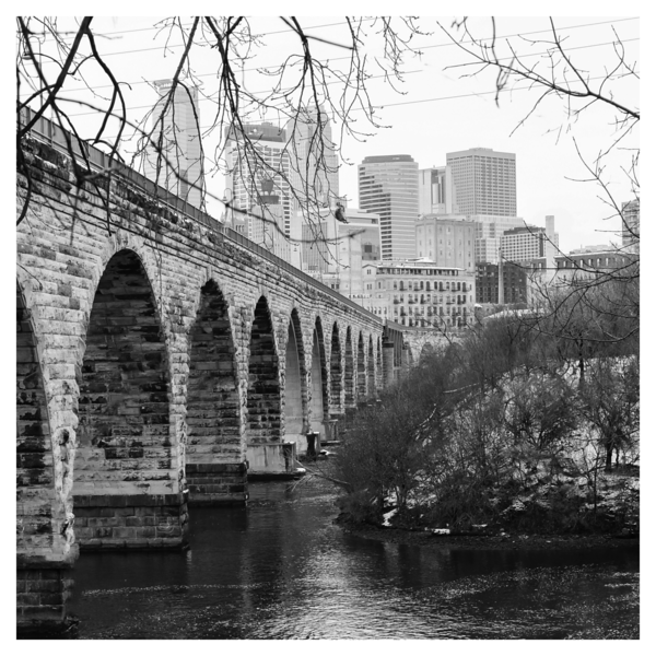 Stone Arch Bridge and Downtown Minneapolis