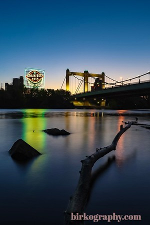 One of my favorite shots!  The Grain Belt Beer sign just before sunrise on a clear late summer morning.  Minneapolis, MN