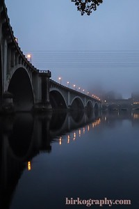 Early morning fog.  3rd Ave. bridge.  Minneapolis, MN