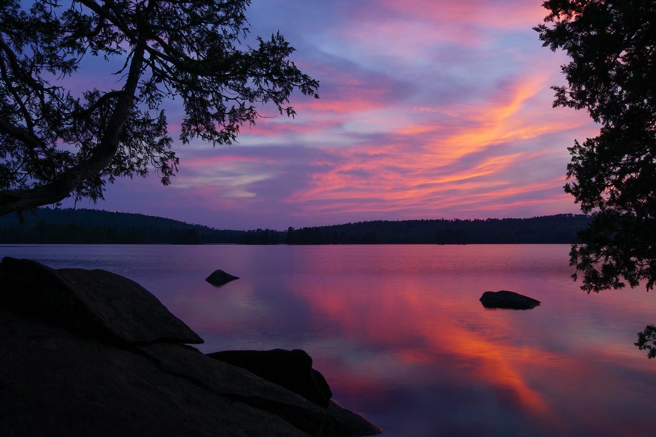 Alton Lake Campsite Sunset 002