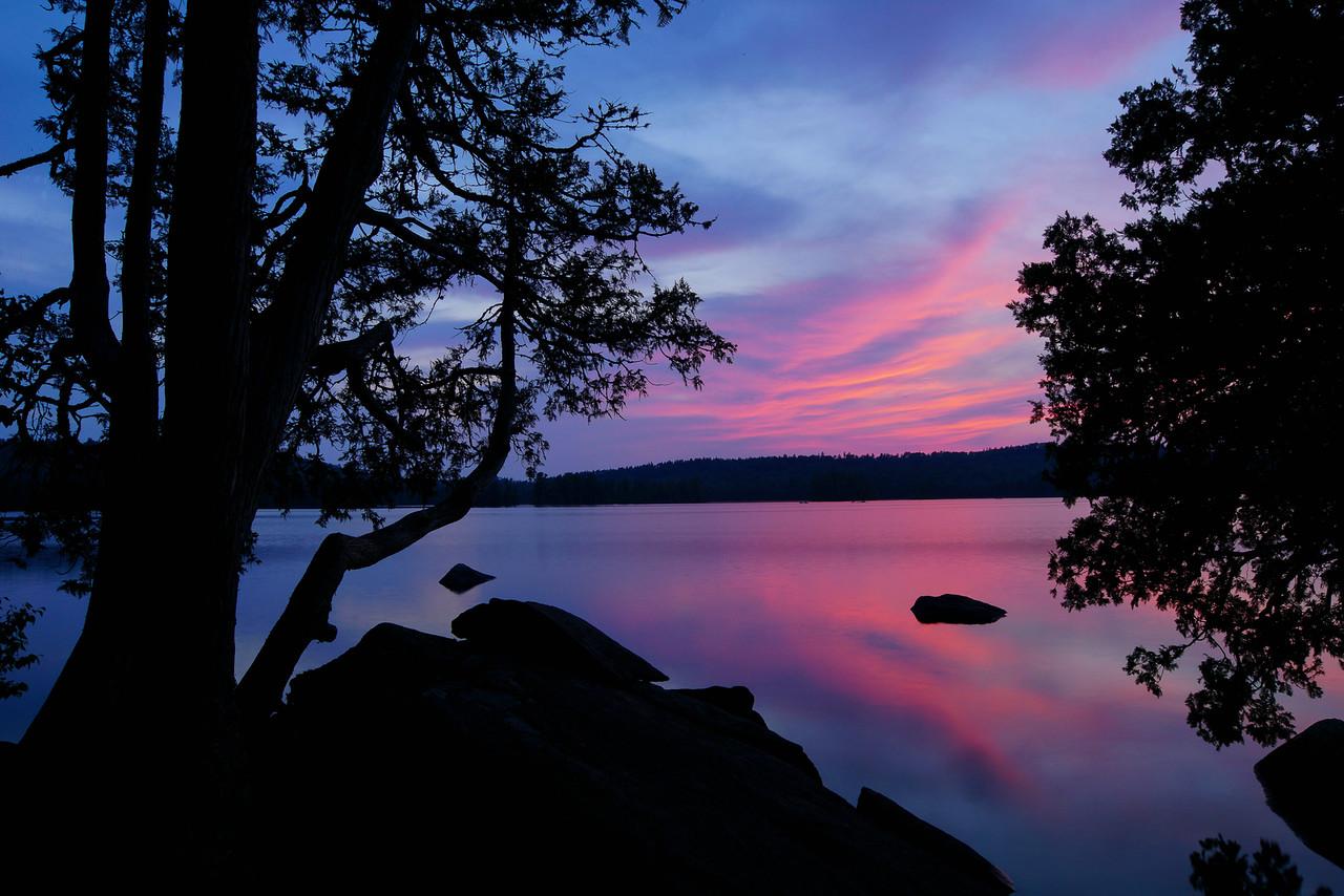 Alton Lake Campsite Sunset 001