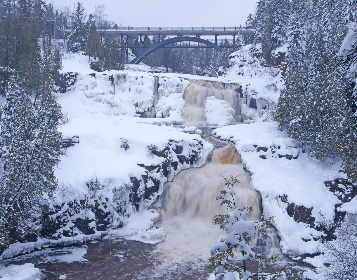 Gooseberry Middle Falls Winter 1