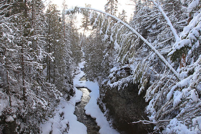 "RIVERS 3800  ""Winter on the Cascade Gorge""  Cascade River State Park, MN"