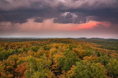 "AUTUMN 3124  ""Sunset Squalls and Fall Colors""  Grand Portage, MN"
