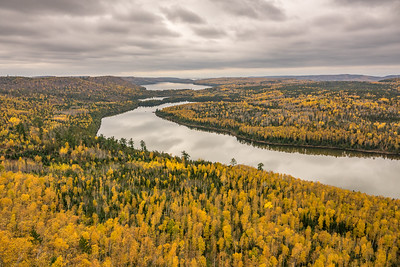"""AUTUMN 02196  """"Autumn in Border Country""""  Overlooking West Rose Lake, Rat Lake and South Lake along the Border Route Trail in northeast Minnesota."""