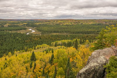 "AUTUMN 01340  ""Late September, Poplar River Overlook""  Superior Hiking Trail near Lutsen, MN"