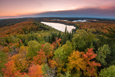 """Northwoods Autumn Sunset"""