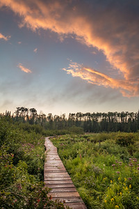 """FOREST 01949  """"Sunset on the Beaver Meadow""""  Grand Portage Trail - Grand Portage National Monument, MN"""