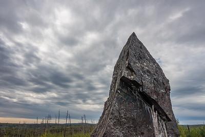 "FOREST 03850  ""Magnetic Rock""  Gunflint Trail, MN"