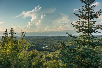 """FOREST 02379  """"Brewing Storm over the Pigeon River Valley""""  Grand Portage State Forest, MN"""