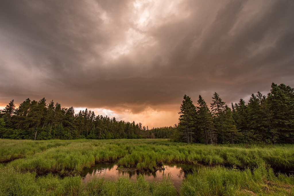 """FOREST 2892<br /> <br /> """"Sunset Storm, Hollow Rock Creek""""<br /> <br /> Grand Portage, MN"""