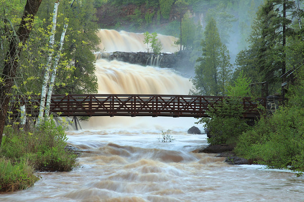 "GOOSEBERRY RIVER 7683  ""Lower Falls, High Water""  May 25, 2012 - Gooseberry Falls State Park, MN"