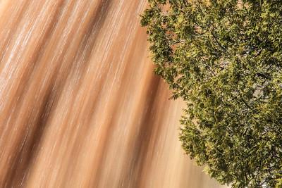 "GOOSEBERRY RIVER 2650  ""Caramel Water and Cedar""  Upper Falls - Gooseberry Falls State Park, MN"