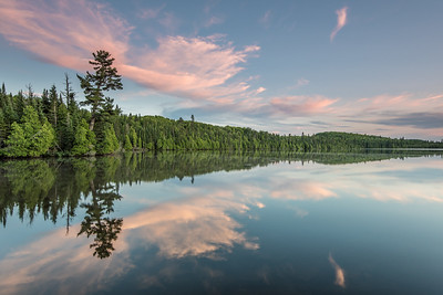"LAKES 7237  ""July Sunset on Loon Lake""  Grand Portage, MN"