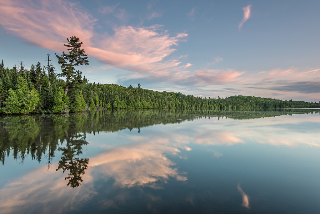 "LAKES 7237<br /> <br /> ""July Sunset on Loon Lake""<br /> <br /> Grand Portage, MN"