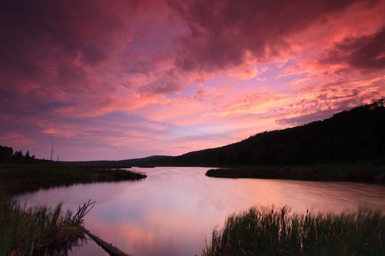 "LAKES 3364<br /> <br /> ""August sunset over Dutchman Lake"""