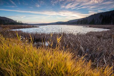 "LAKES 0458  ""Autumn Sunset over Dutchman Lake"""