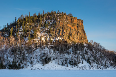 """Last Light on Goose Rock"""